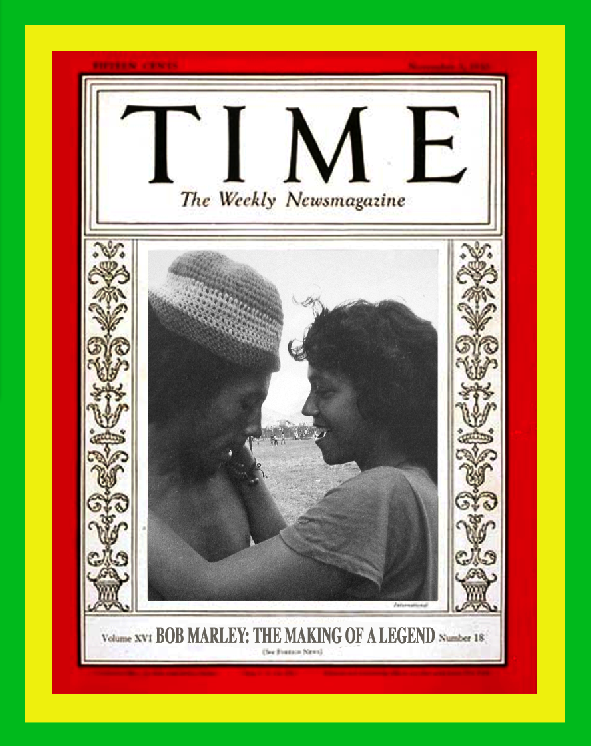 Bob Marley film. Time magazine montage